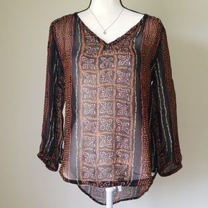 Lucky Brand Peasant Blouse Size S